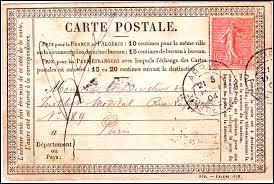 A l'âge de 12 ans, qui aurait pu envoyer une carte par voie postale ?