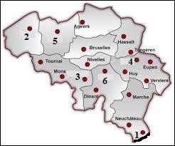 Quelles villes désignent les numéros 1 et 2 ? (voir carte ci-contre)