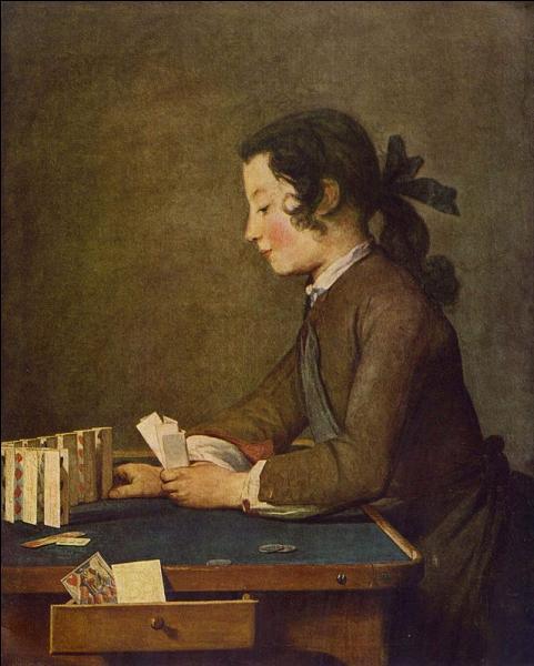 """Quel peintre du 18e siècle a réalisé ce """"Château de cartes"""" en 1737 ?"""