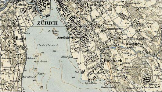 Quel pays est représenté sur la Carte Siegfried, atlas topographique réalisé entre 1870 et 1926 ? (indice sur l'image)