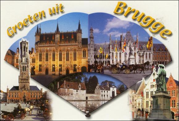 """Bruges, """"La Venise du nord"""", située en région flamande, est une ville..."""