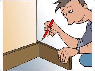 Langue française - Quels éléments décoratifs et/ou utilitaires place-t-on souvent au pied des murs à l'intérieur des habitations ?