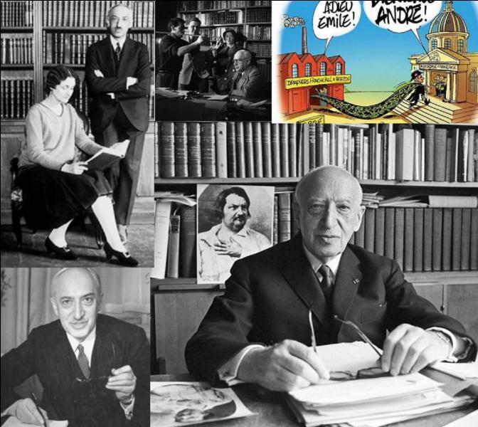 Cet écrivain français a fait partie de l'Académie française. Son œuvre a été très éclectique, il a écrit beaucoup de biographies, des livres pour la jeunesse, des œuvres de science-fiction et, bien sur, des romans.En 1947, son nom de plume devient son nom officiel. A vous de trouver ce nom !