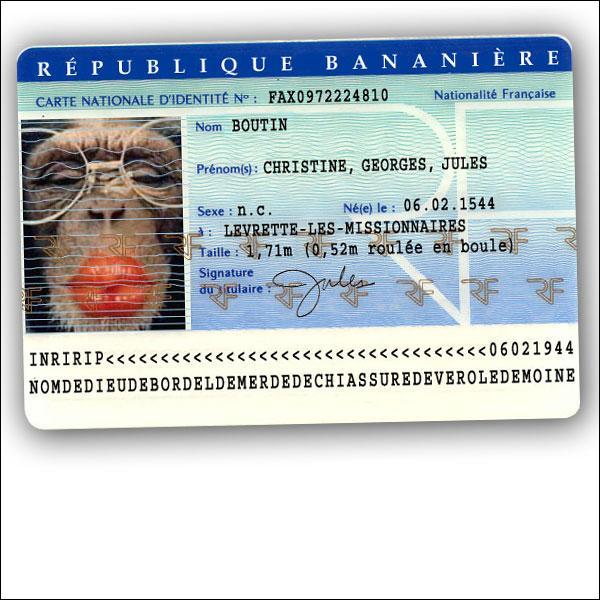 Que ne comporte pas votre carte d'identité ? (Agrandissez l'image et lisez bien ce qui y est inscrit) ^^