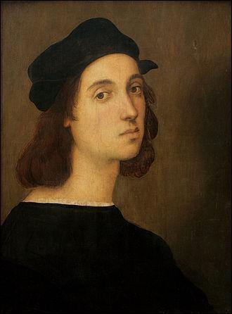 Le peintre italien dont vous voyez l'autoportrait, est né le 6 avril 1483 et mort 37 ans plus tard, le jour de son anniversaire. Quel est son nom ?