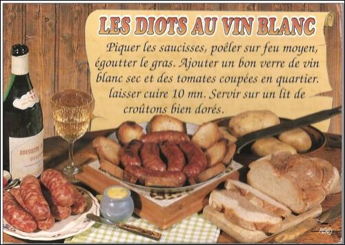 Voilà une recette très goûteuse dont vous donnerez des nouvelles. D'où vient cette carte postale ?