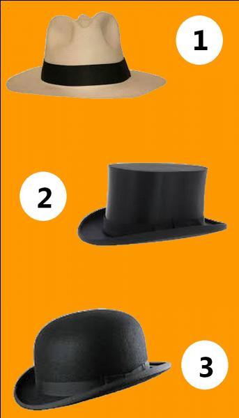 Parmi ces trois chapeaux, lequel est un chapeau panama ?