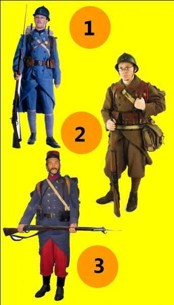 Quel soldat porte l'uniforme de l'armée française de 1939 ?