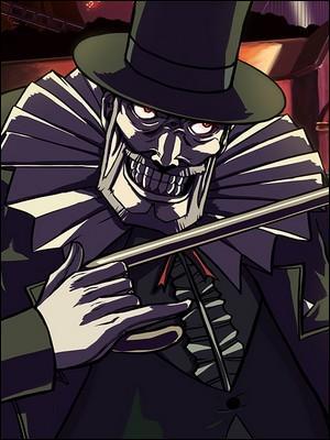"""Pierrot le Fou (une espèce de croisement entre le personnage principal de """"V pour Vendetta"""", du Pingouin et du Joker), est l'un des ennemis de Spike, le héros de la série intitulée :"""