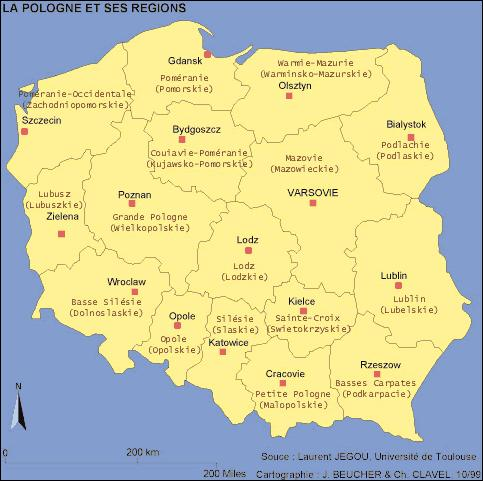 Quel pays n'a pas de frontières avec la Pologne ?