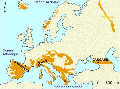 Quelle chaîne de montagnes sépare l'Europe de l'Asie ?