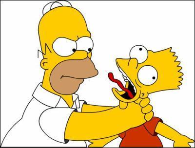 Que fait le père de Bart lorsqu'il fait une bêtise ?