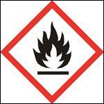 Associez le logo de ce produit dangereux avec le bon adjectif et la définition correcte.