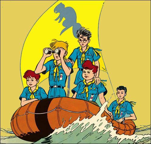 """Comment s'appelle le plus jeune scout de """"La patrouille des Castors"""" ?"""