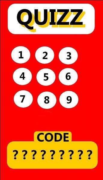 Retenez tous vos numéros de réponse et trouvez quel est le bon code ?