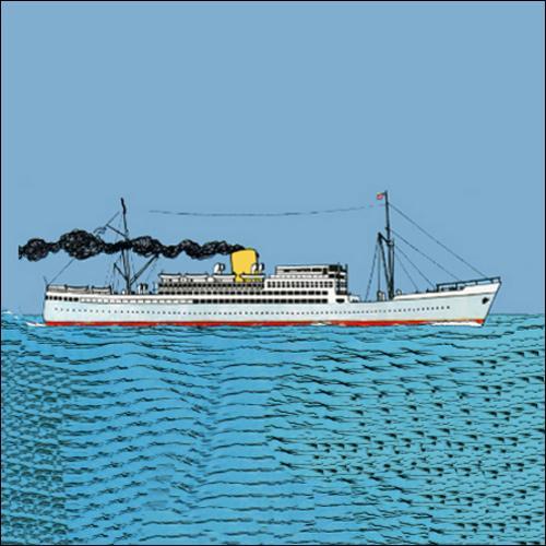 Sur quel bateau Tintin arrive-t-il au Congo ?