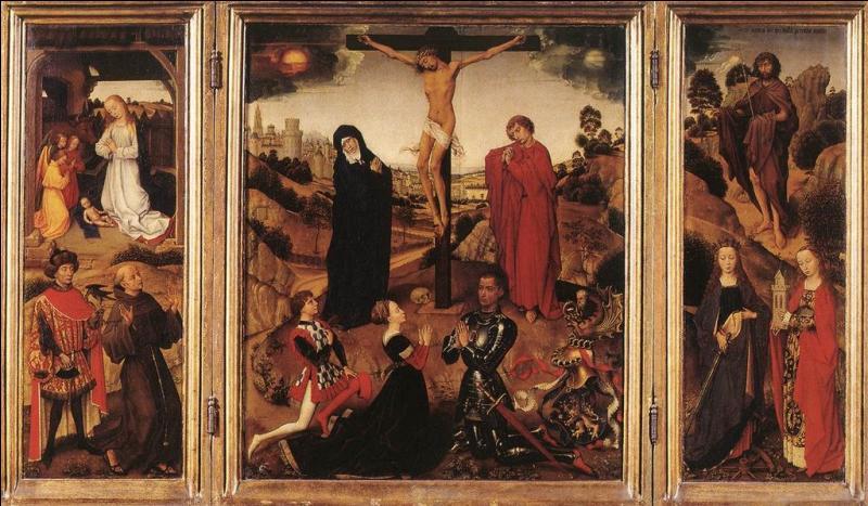 Comment appelle-t-on une oeuvre peinte sur trois panneaux ?
