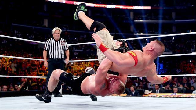 Combien de suplex Brock Lesnar a-t-il infligé à John Cena lors de Summer Slam 2014 ?