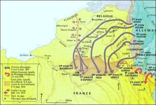 Trois phases majeures se sont succédées pendant la guerre. Dans l'ordre chronologique, ça donne :