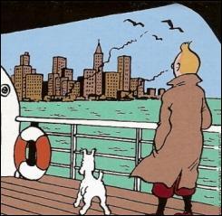 Quelle ville Tintin quitte-t-il à la fin de l'album ?