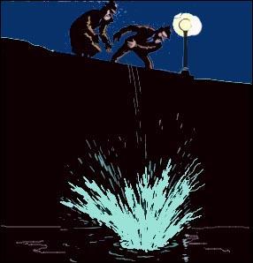 Dans quel lac les gangsters jettent-ils Tintin ?