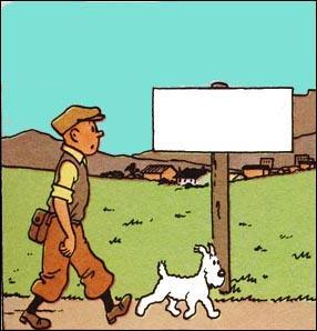 Dans quelle ville arrive Tintin ?