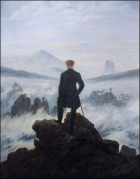 """Quel peintre a réalisé cette toile intitulée """"Le Voyageur contemplant une mer de nuages"""" ?"""