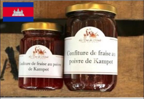 Une simple confiture de fraises, oui, mais parfumée avec le poivre de Kampot, et cela change tout ! D'où provient ce poivre que l'on préférera noir ?
