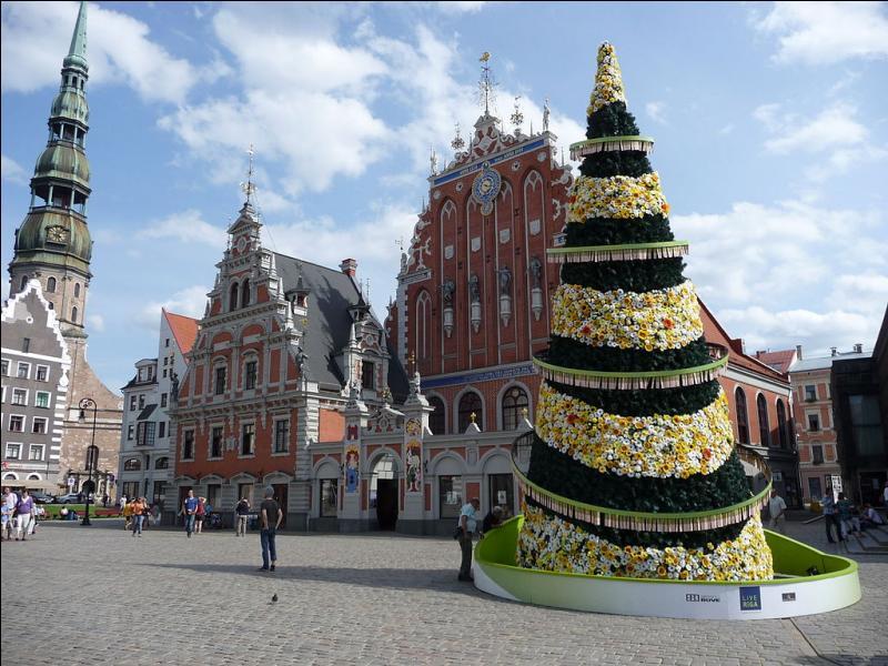 """Dans la capitale lettone, arrêtez-vous devant la Maison des Têtes noires, résidence provisoire, en 1477, pour les marchands célibataires regroupés au sein de la puissante confrérie dite des """"Têtes noires"""", de passage dans cette ville."""