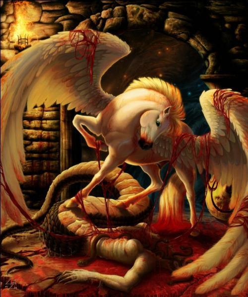 Persée lui tranchera la tête. De son sang naîtra Pégase.Qui est-elle ?