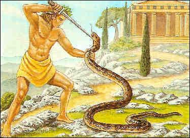 Quel dieu grec tuera le serpent Python ?