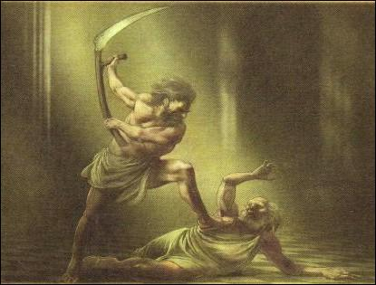 Qui est ce Titan ? Sur les conseils de sa mère, il émascula son propre père, Ouranos.