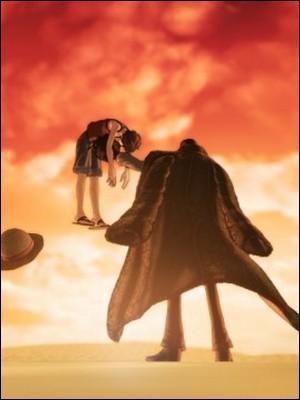Épisode 110 - Crocodile blesse très grièvement Luffy. Comment fait-il ?