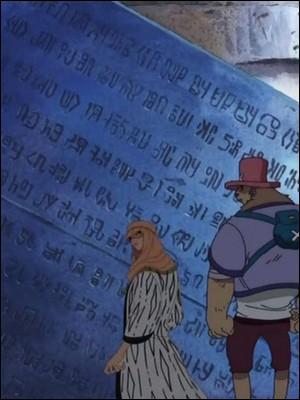 Épisode 102 - Luffy, Zoro et Chopper tombent dans une salle souterraine. Sans s'en rendre compte, ils y découvrent :
