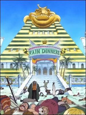 Épisode 109 - Pendant ce temps, qui est chargé de distraire Crocodile afin de permettre à Luffy et aux autres de s'enfuir de la cellule ?