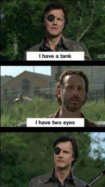 """Ici ça clashe dur ! Que répond Rick quand le gouverneur lui lance """"j'ai un tank"""" ?"""