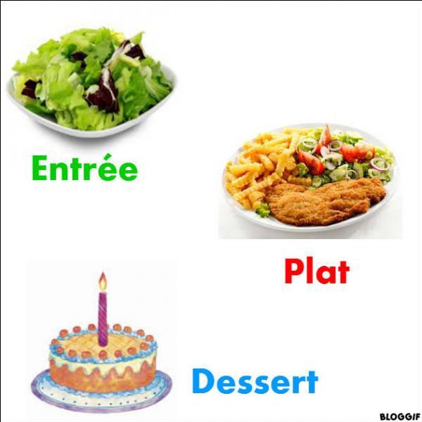Marie organise une fête d'anniversaire. Elle s'occupe du repas. Elle a invité : Jade, Paul, Manon, Hugo et Chloé. Pour les repas, il y a une entrée, un plat, et un dessert. De combien d'entrées, de plats et de desserts Marie aura besoin sachant que, bien sûr, Marie va aussi prendre une entrée, un plat et un dessert.