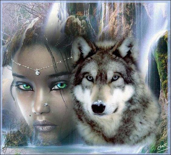Quel chanteur 'a fait entrer les loups dans Paris' ? (J'ai délibérément mis une belle photo d'un loup et d'une femme pour dédiaboliser cet animal qui n'a rien demandé à personne mais qui a toujours été persécuté et ça continue encore de nos jours ! )