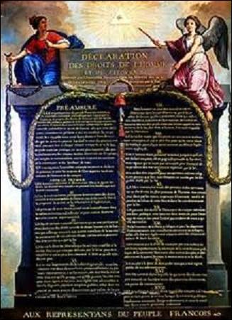 Le 26 août, quel autre texte fondamental de la Révolution française est adopté ?