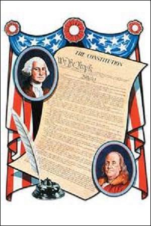 Mars : États-Unis : Acceptée le 17 septembre 1787 par une convention réunie à Philadelphie (Pennsylvanie), quel texte rentre en vigueur le 4 de ce mois ?