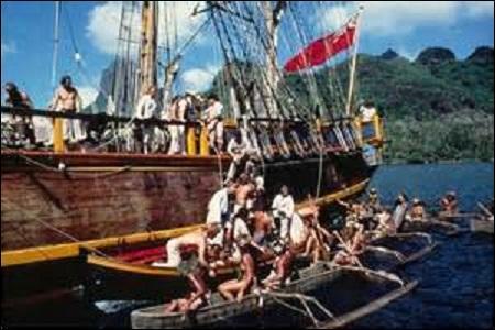 Le 28 avril, débute à bord d'un navire de la British Royal Navy une des plus célèbres mutineries de l'histoire. Conduite par un des membres de l'équipage se nommant Fletcher Christian, ce dernier prend le contrôle de ce bâtiment au large de Tahiti et débarque sur l'île de Pitcairn dans le Pacifique où il meurt. Cet événement inspirera plusieurs livres et films. Mais comment se nomme ce bateau ?