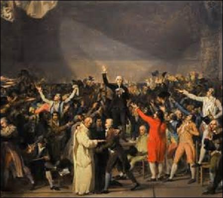 Juin : Après les discours décevants d'inauguration du roi et du contrôleur général des finances, le tiers état monte le ton. La mort du dauphin le 4 juin et l'absence de Louis XVI ne font qu'aggraver les choses. Le 17 juin, ces derniers se proclament en Assemblée nationale et le 20 juin, un serment d'union est signé entre eux. Mais, dans l'histoire, sous quel nom est resté ce serment ?