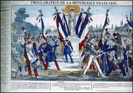 Quelle est la période correspondant à la proclamation de la Seconde République ?