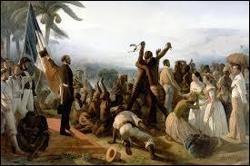 Quand l'établissement du suffrage universel masculin ainsi que l'abolition de l'esclavage eurent-ils lieu ?