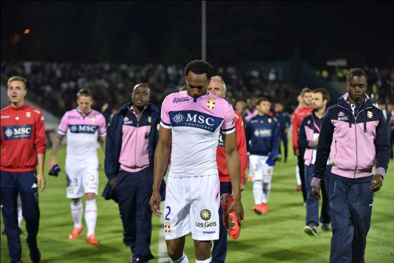 37e journée toujours, Evian TG est relégué en Ligue 2 après sa défaite contre l'ASSE à domicile. Quel est le résultat du match ?