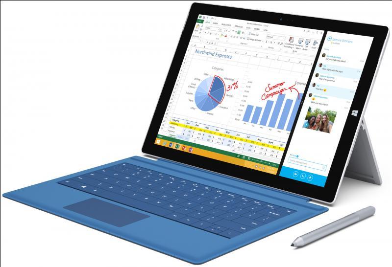 Quelle entreprise a créé le Surface pro 3 ?