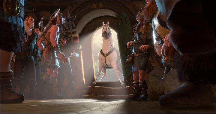 Comment la princesse et Flynn échappent-ils à la garde royale ?