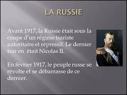 Quelle était la situation de la Russie avant la Révolution ?