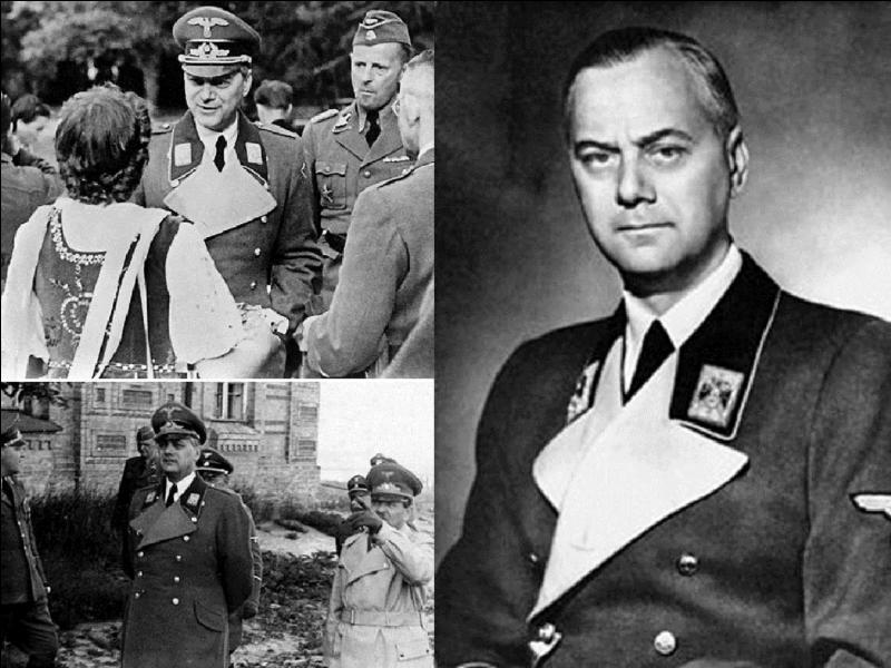 Retournons en Allemagne ! Cet allemand est né en Estonie (alors Russe). Il rentrera en Allemagne en 1917 et intégrera le Parti nazi en 1919. Dès 1927, il prône l'invasion de la Pologne et de la Russie pour des questions raciales. Egalement, il organisera le pillage des œuvres d'art appartenant aux Juifs.Qui est ce monstre ?