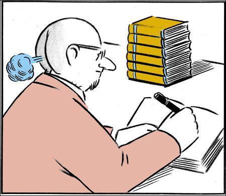 J'écris des histoires, vraies ou inventées et elles se retrouvent dans des livres. Tu peux lire ces livres où mon nom est écrit. Mon métier est...